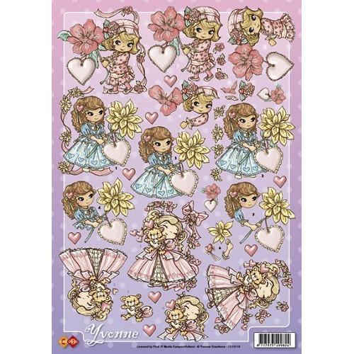 3D A4 Knipvel Card Deco Yvonne Creations = Valentijn