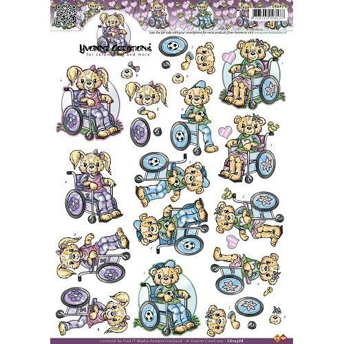 3D A4 Knipvel Yvonne Creations - Rolstoel CD10368
