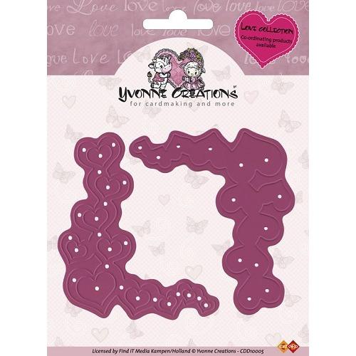 Yvonne Creations - Cut & Emboss Die - Valentine Corners