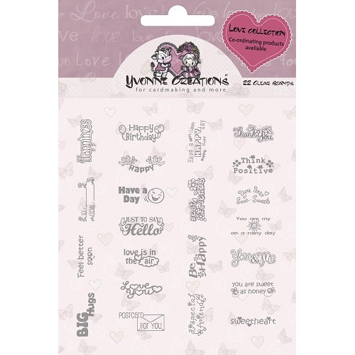 Yvonne Creations - Stamps - Valentine - Text