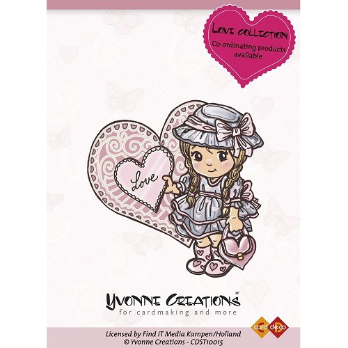 Yvonne Creations - Stamps - Valentine - Girl