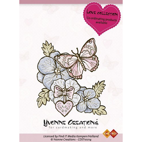 Yvonne Creations - Stamps - Valentine - Butterfly