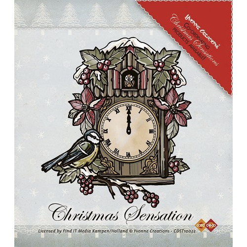 Stempel - Yvonne Creations - Christmas Sensation - Clock