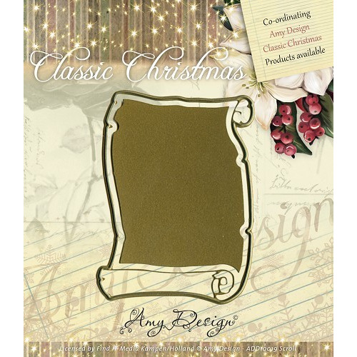Die - Amy Design - Die - Classic Christmas - Scroll