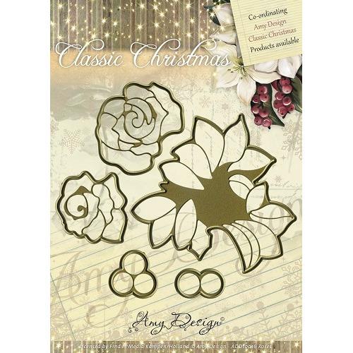 Die - Amy Design - Die - Classic Christmas - Roses