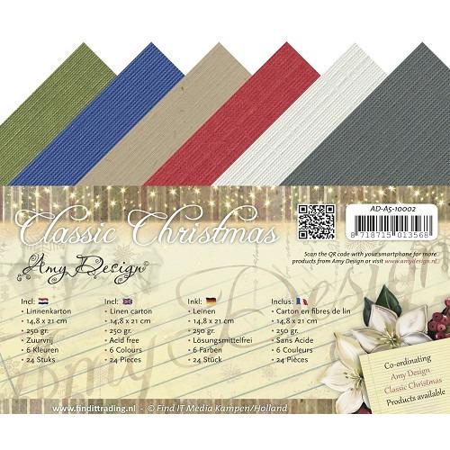Linnenkarton - Amy Design - Classic Christmas - A5