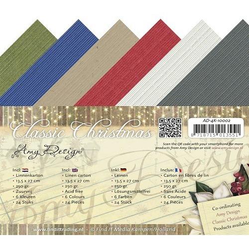 Linnenkarton - Amy Design - Classic Christmas - Vierkant