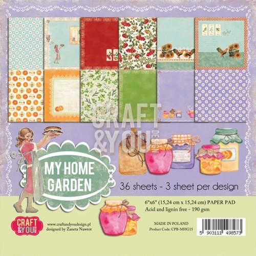 CPB-MHG15 My Home Garden - paper pad 6x6 36 vel(3x12 design)