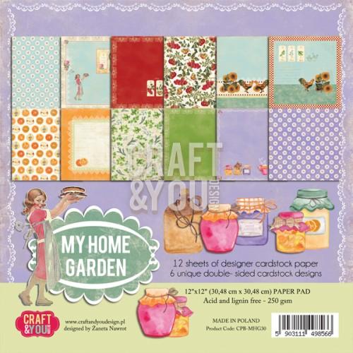 CPB-MHG30 My Home Garden - paper pad 12x12 12 vel(2x6 design)