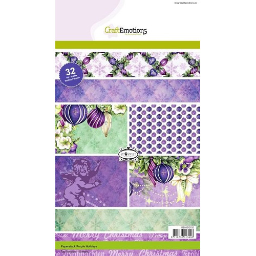 CraftEmotions Paper stack A5 - Purple Holiday