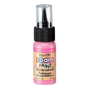 DecoArt Foam Paint Hot Pink