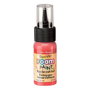 DecoArt Foam Paint Red