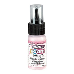 DecoArt Foam Paint Glitter Pink