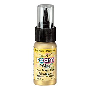 DecoArt Foam Paint Metallic Gold
