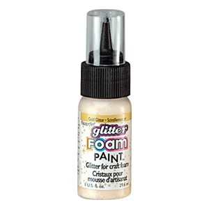 DecoArt Foam Paint Glitter Gold