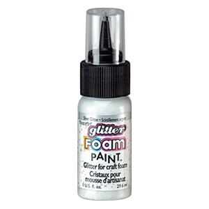 DecoArt Foam Paint Glitter Silver