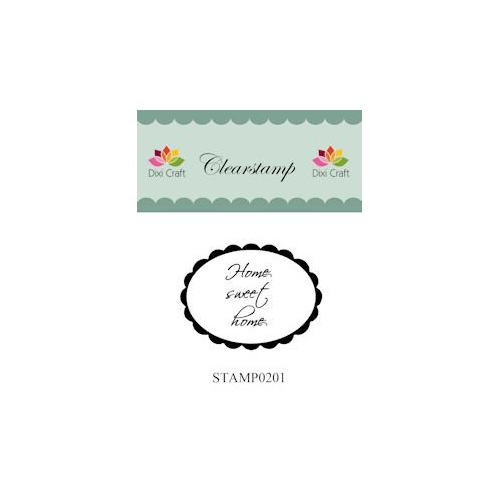Dixi Craft Clear Stamp - Home sweet home 1