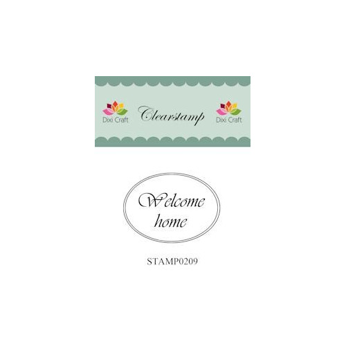Dixi Craft Clear Stamp - Welcome home 2