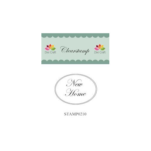 Dixi Craft Clear Stamp - New Home