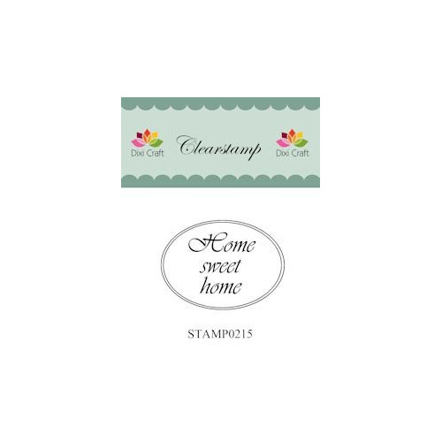 Dixi Craft Clear Stamp - Home sweet home 3