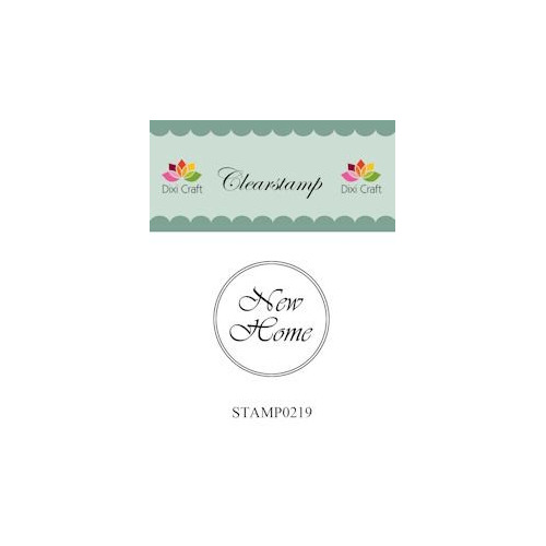 Dixi Craft Clear Stamp - New home 2