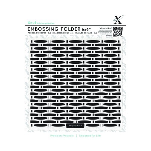 6 x 6 Embossing Folder - Wicker