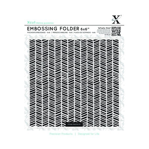 6 x 6 Embossing Folder - Herringbone Pattern