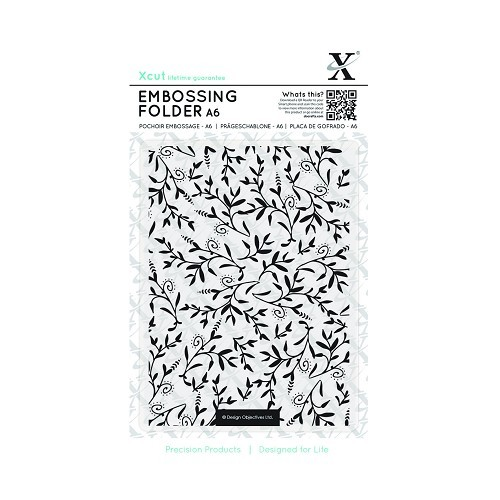 A6 Embossing Folder - Foliage Pattern