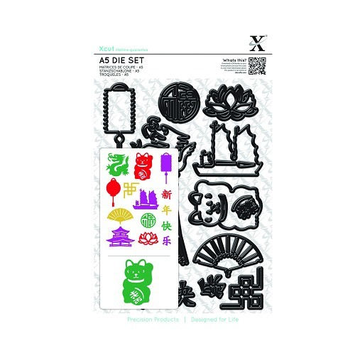 A5 Die Set (14pcs) - Chinese New Year