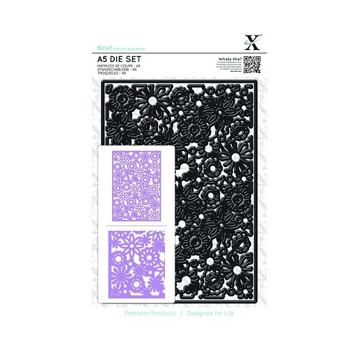 A5 Die Set (1pc) - Floral Filigree Background