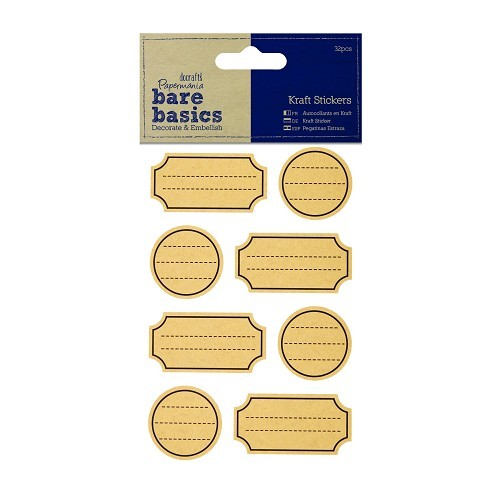 Kraft Stickers (32pcs) - Labels