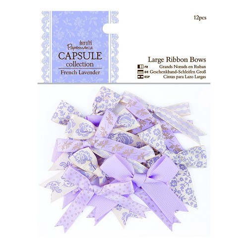 Large Ribbon Bows (12pcs) - Capsule Collection - French Lavender