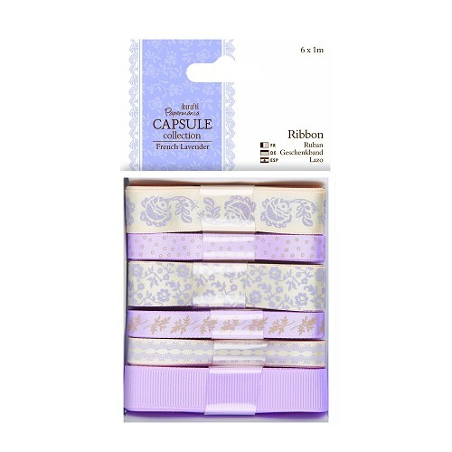 1m Ribbon (6pcs) - Capsule Collection - French Lavender