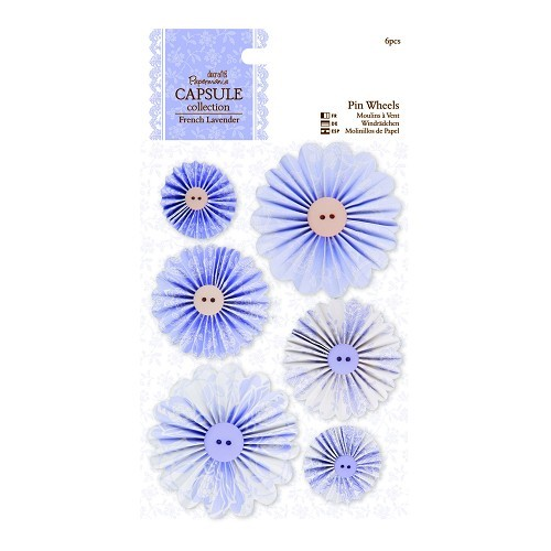 Pin Wheels (6pcs) - Capsule Collection - French Lavender