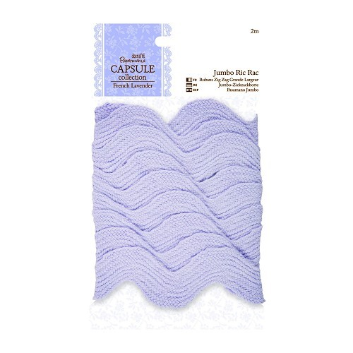 2m Jumbo Ric Rac - Capsule Collection - French Lavender