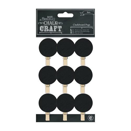 Chalkboard Pegs (9pcs) - Circles
