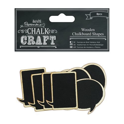 Wooden Chalkboard Shapes (8pcs) - Speech Bubbles