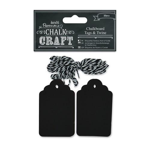 Chalkboard Tags & Twine (20pcs)