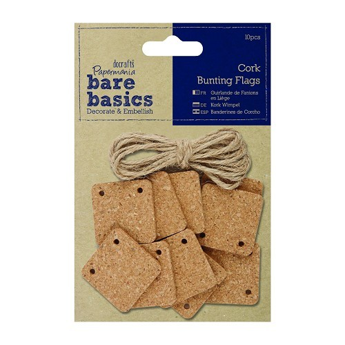 Cork Bunting Flags (10pcs) - Square