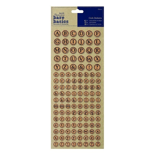 Cork Stickers (126pcs) - Alphabet Circles