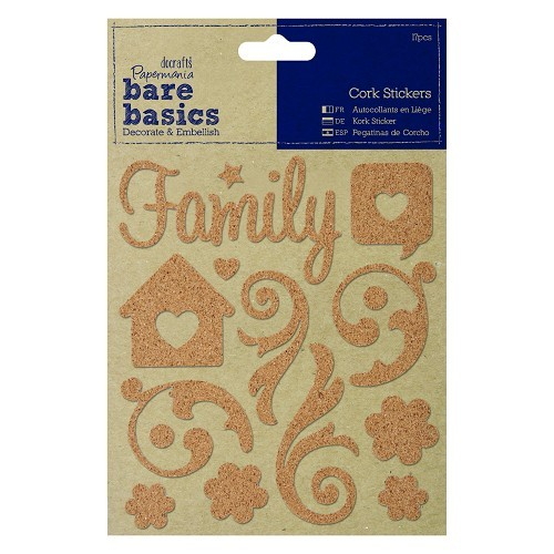 Cork Stickers (15pcs) - Family Swirls