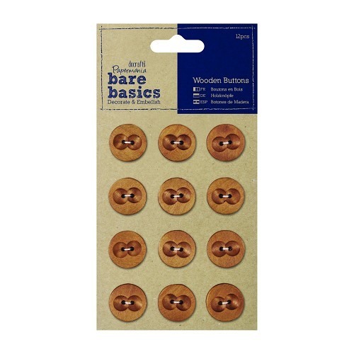 Wooden Buttons (12pcs) - Dark