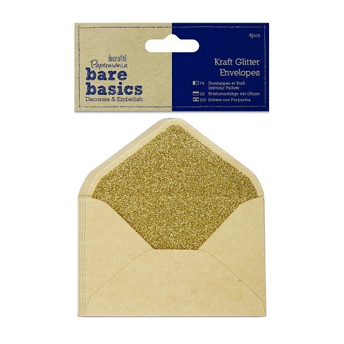 Kraft Glitter Envelopes (4pcs)