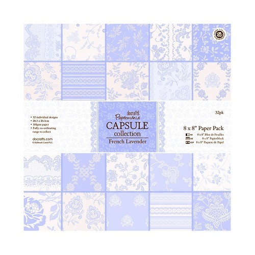 8 x 8 Paper Pack (32pk) - Capsule Collection - French Lavender