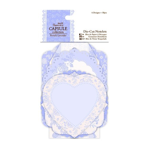 Die-cut Notelets (18pcs) - Capsule Collection - French Lavender