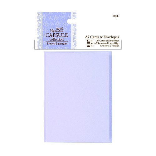 A7 Cards & Envelopes (20pk) - Capsule Collection - French Lavend