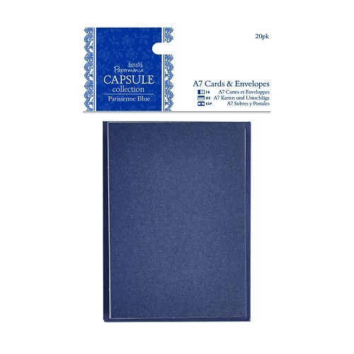 A7 Cards & Envelopes (20pk) - Capsule Collection - Parisienne Bl