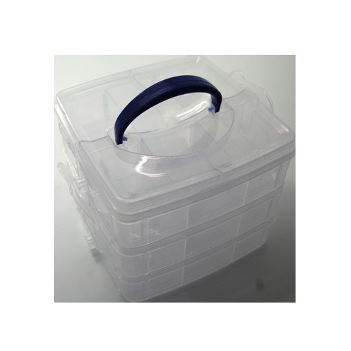 Vakkendoosjes - Opberg box 3 laags met handvat