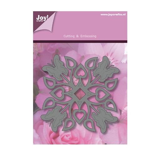 Lin & Lene Design - Vierkant vlinder / blad