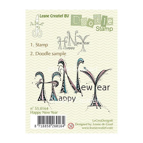 Doodle Stamp - Happy New Year